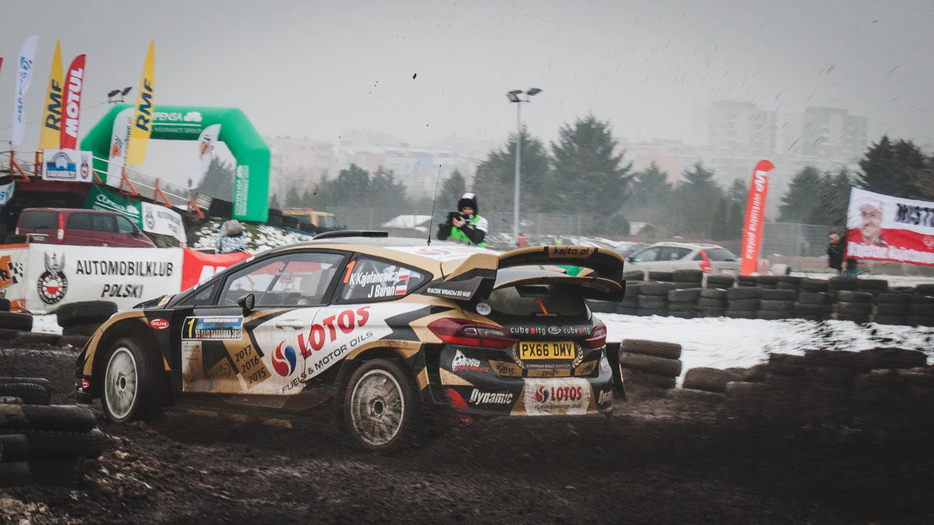 Ford Fiesta WRC w czasie Rajdu Barbórka 2017