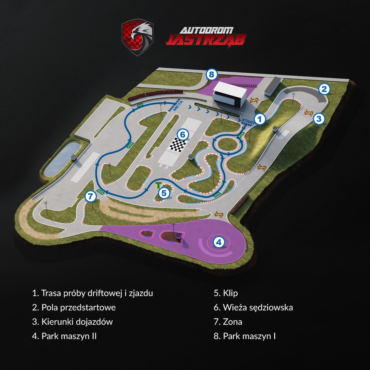 Driftingowy Puchar Toru Jastrząb – mapa